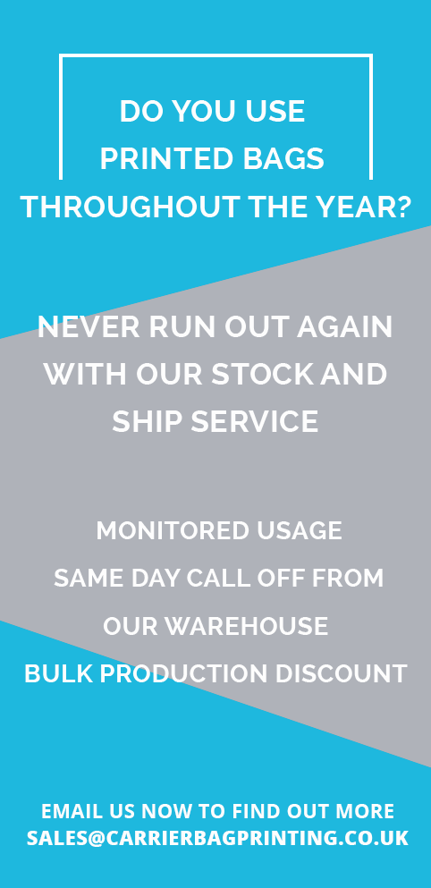 Do you use printed bags throughout the year? Never run out with our stock and ship service. Monitored usage; same day call off from our warehouse; bulk production discount.