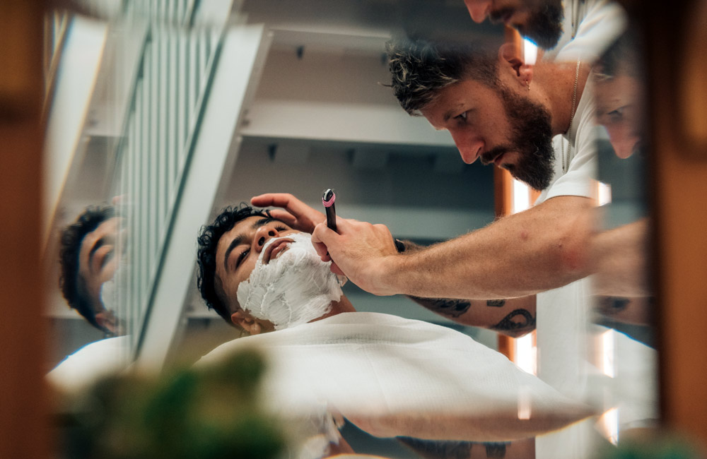 traditional cut throat shave London