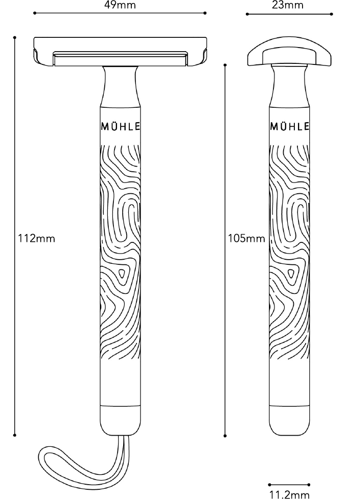 MUHLE Companion safety razor dimensions