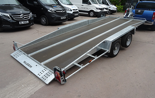 16FT 2 axle 3 Ton Hydraulic Tilt Trailer