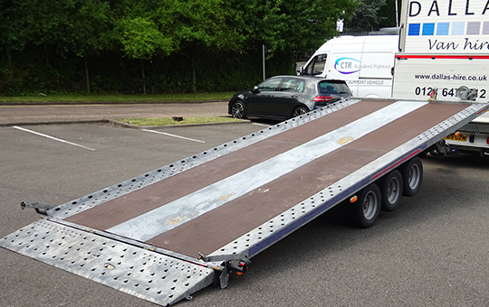 18FT 3 axle 3.5 Ton Hydraulic Tilt Trailer