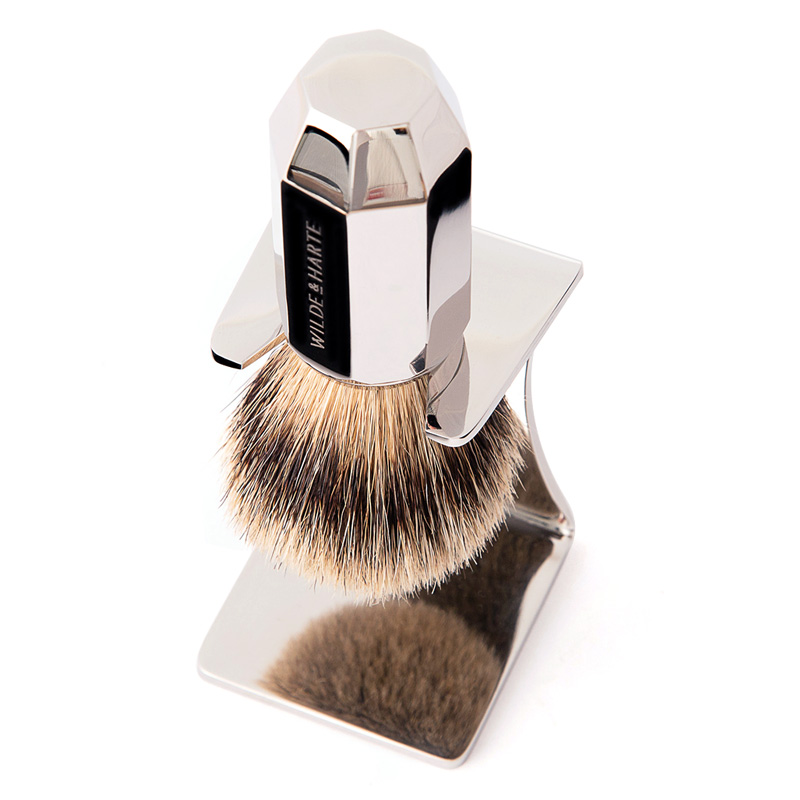 badger shaving brush and stand