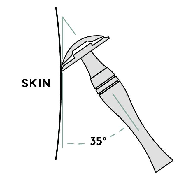 safety razor shaving angle