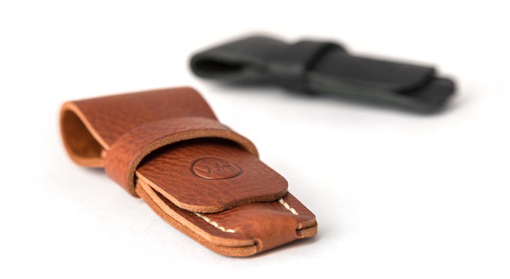 leather razor cases