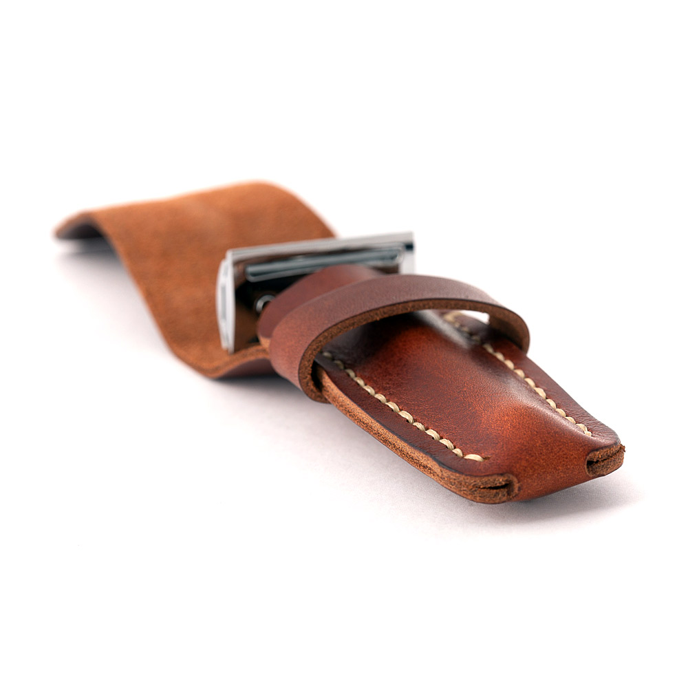 leather razor pouch