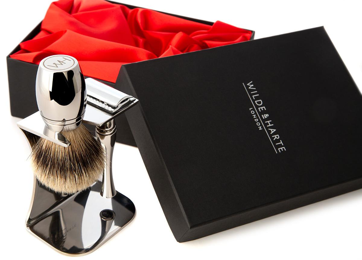 men's contemporary design shaving set