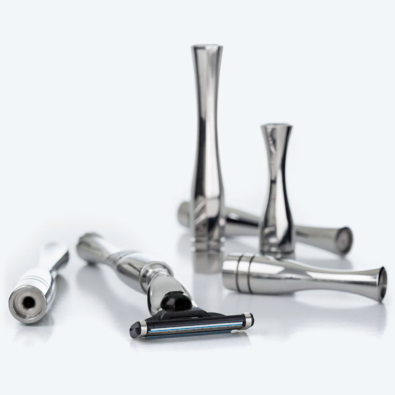 polished stainless steel razor handles