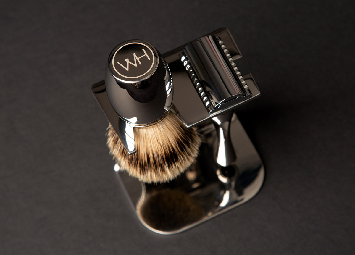 razor brush and stand shaving set