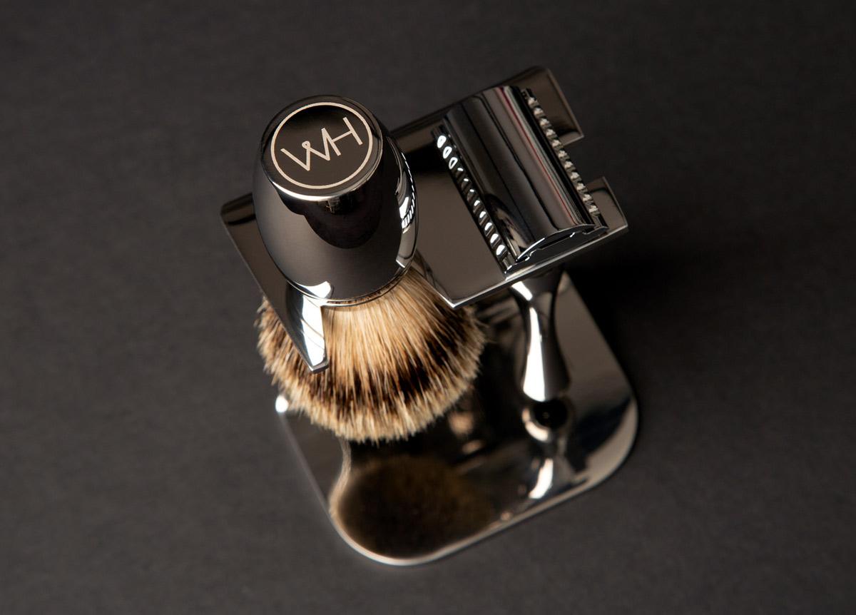 razor brush and stand shaving set