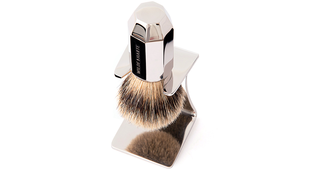 shaving brush in stand