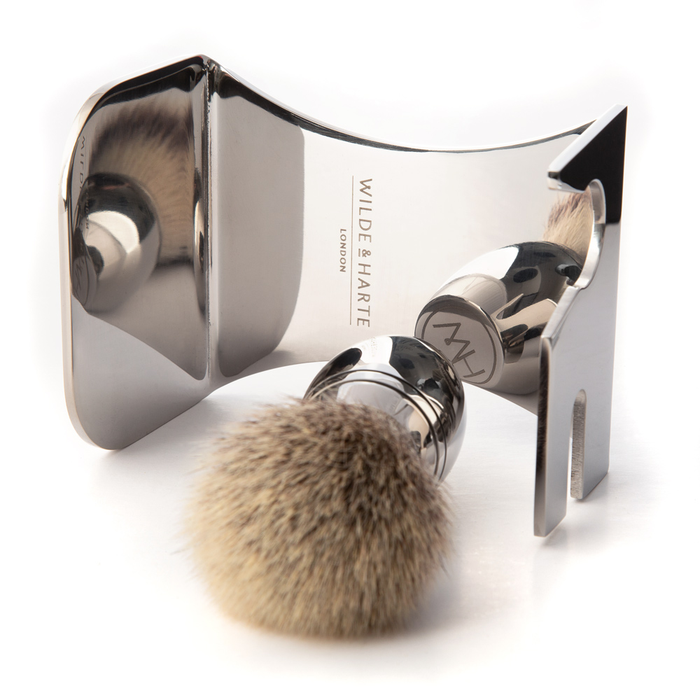 stainless steel shaving set stand