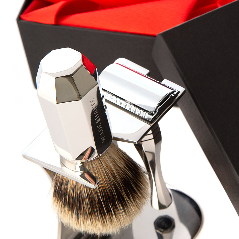 traditional wet shaving set