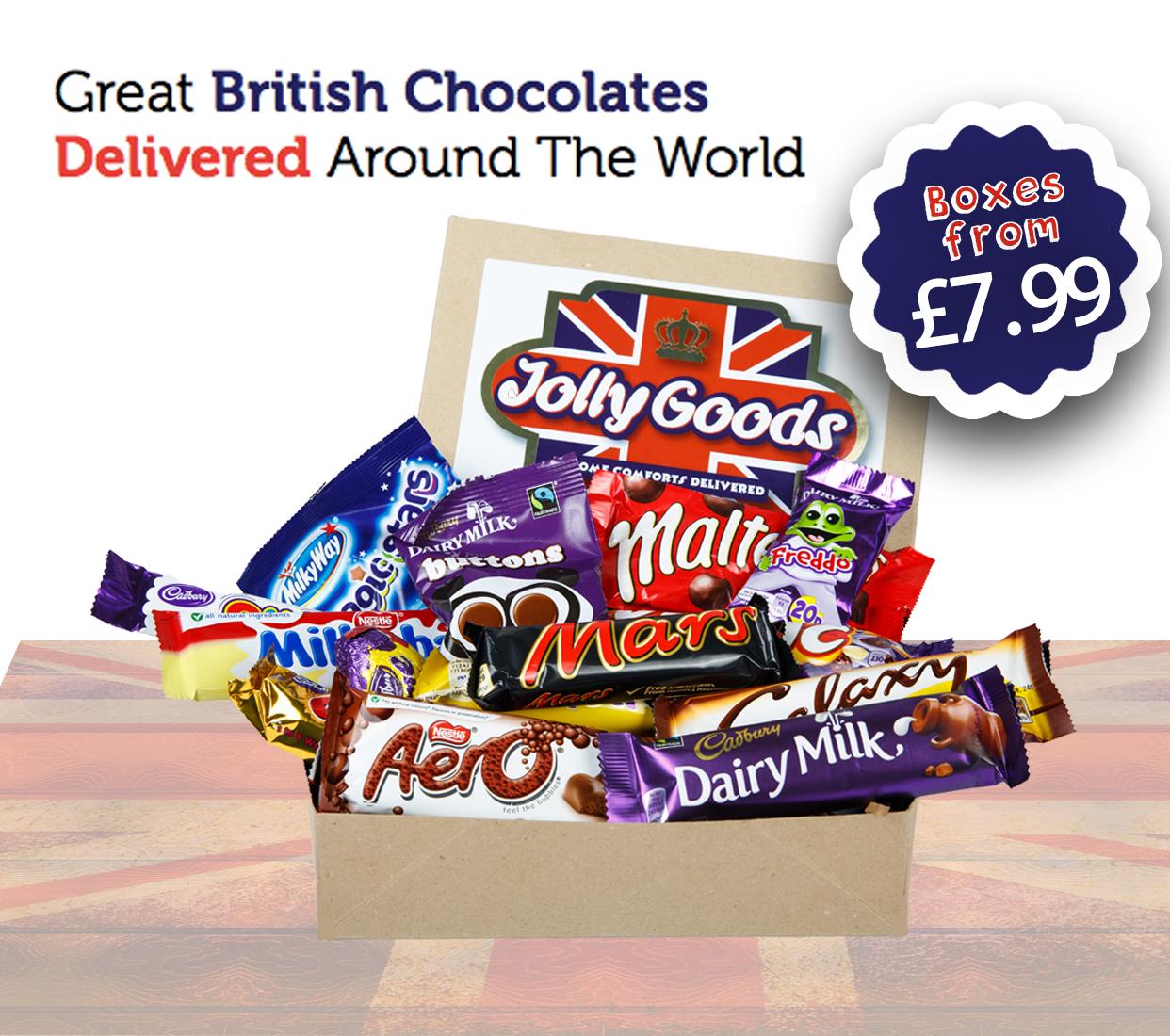 Buy British Chocolate | Jolly Goods Gift Boxes