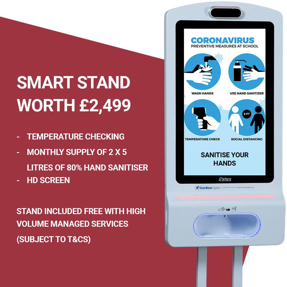 Estate Agent Smart Hand Sanitiser dispenser stand