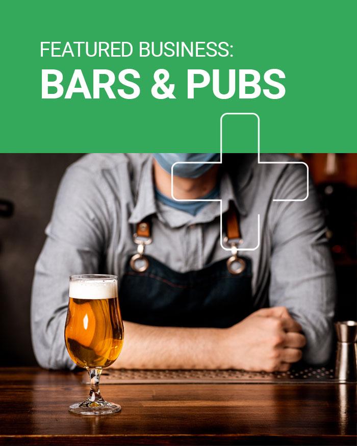 Pub hand sanitiser dispensers UK