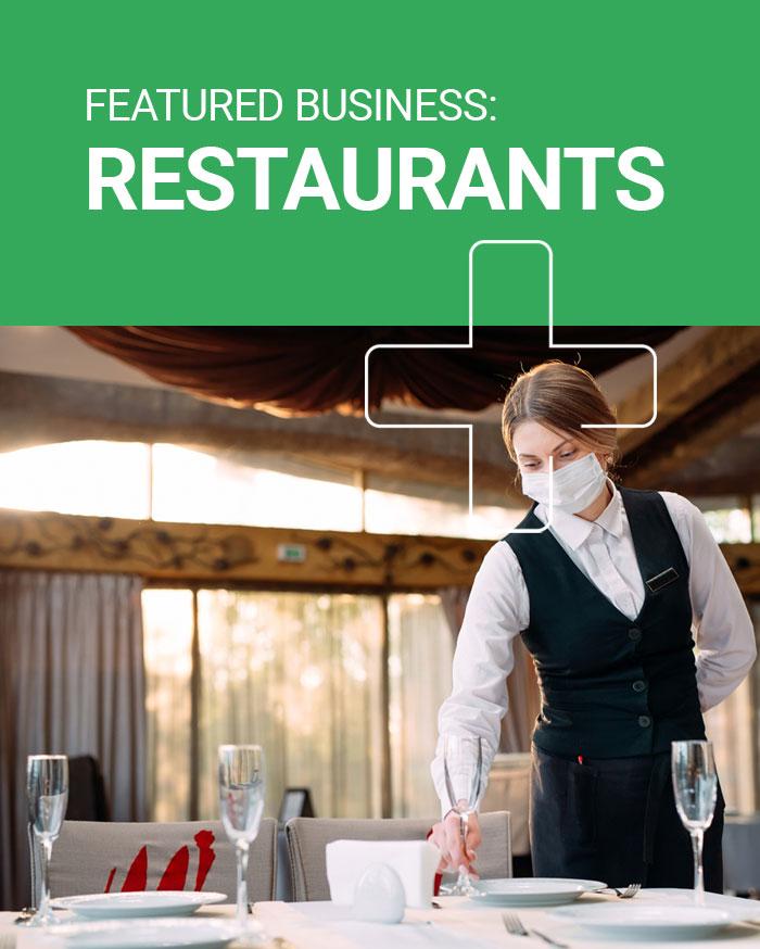 Restaurant hand sanitiser dispensers